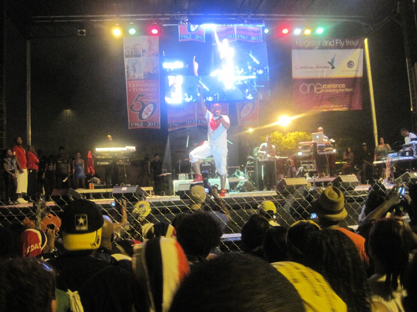 Machel Montano on stage at Sun Life Stadium