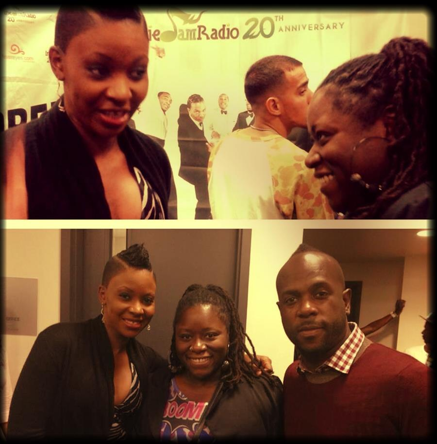 DysChick with Bunji Garlin and Fay-Ann Lyons backstage at Carnival Mania