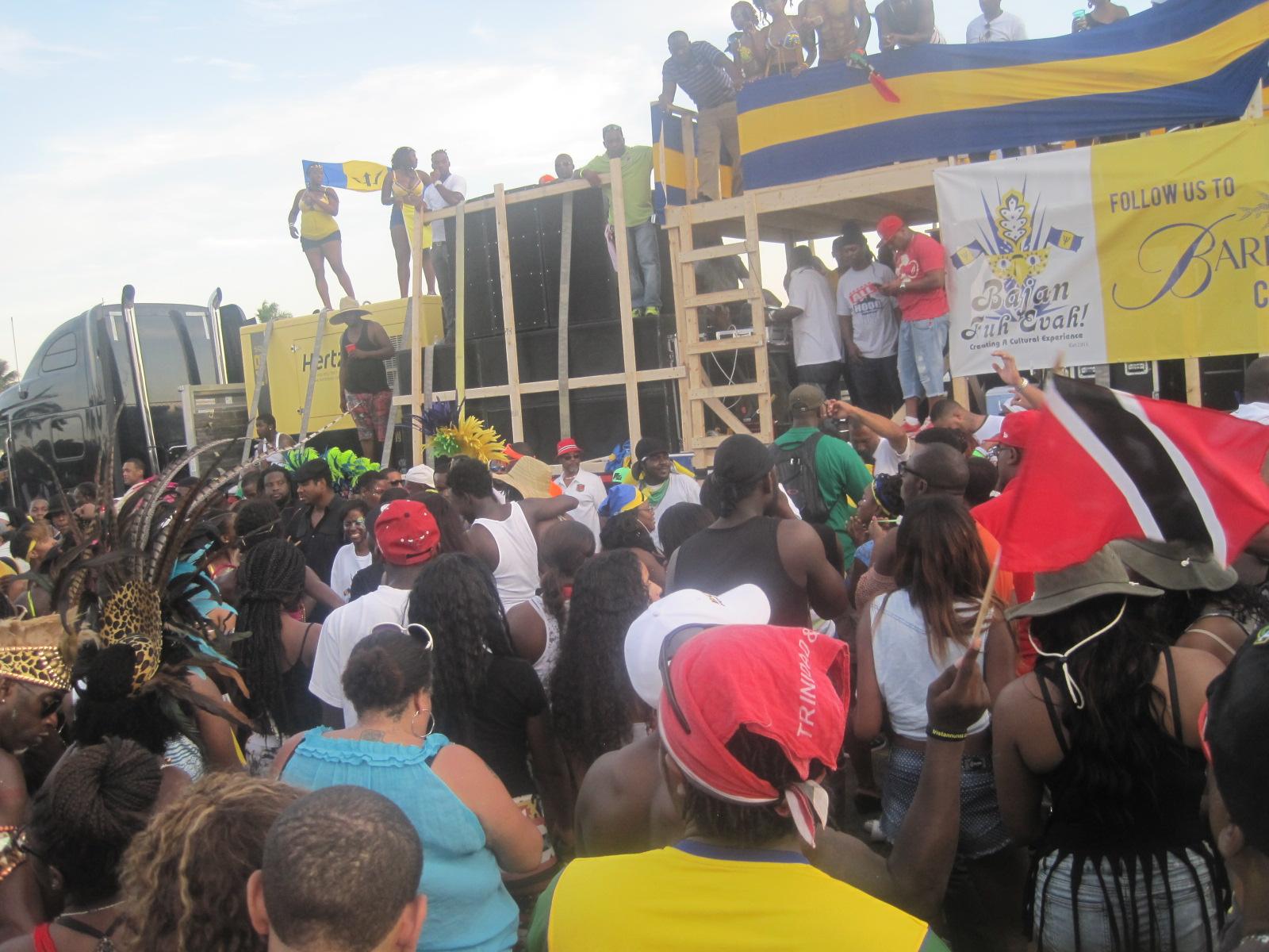 Party by the trucks - Sun Life Stadium