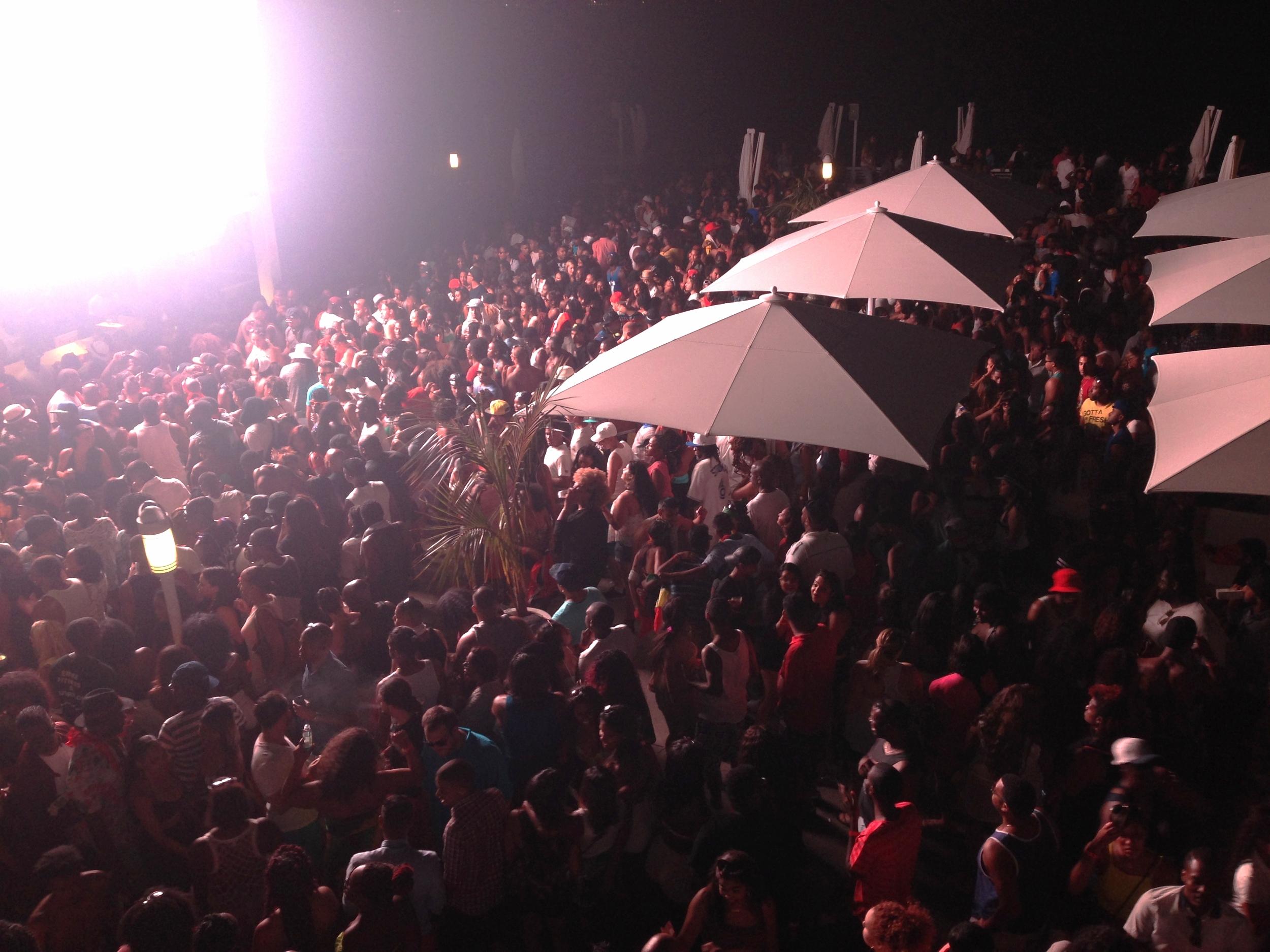 About half of the crowd at Soca or Die. Look at people!