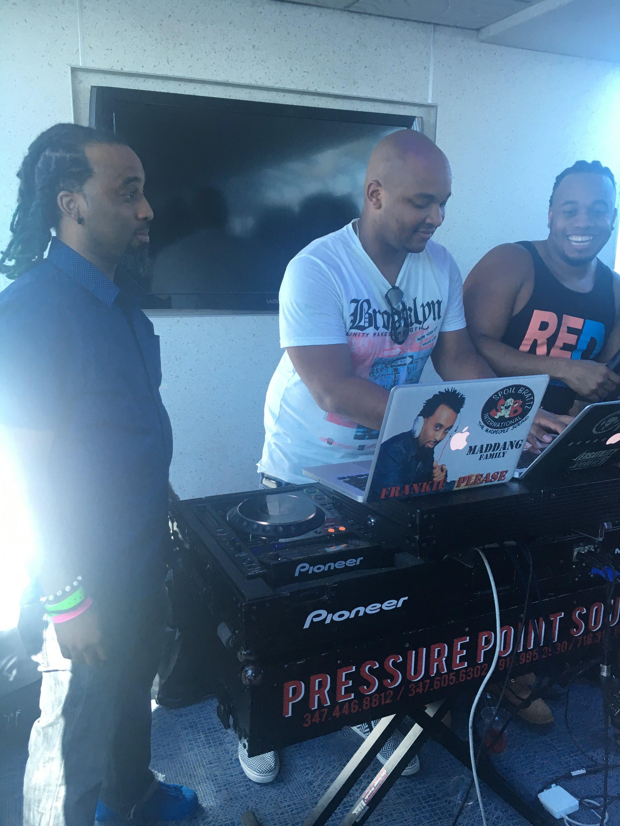 Frankie P  of SpoilBrattz,  DJ Private Ryan ,  Hollywood Sachy