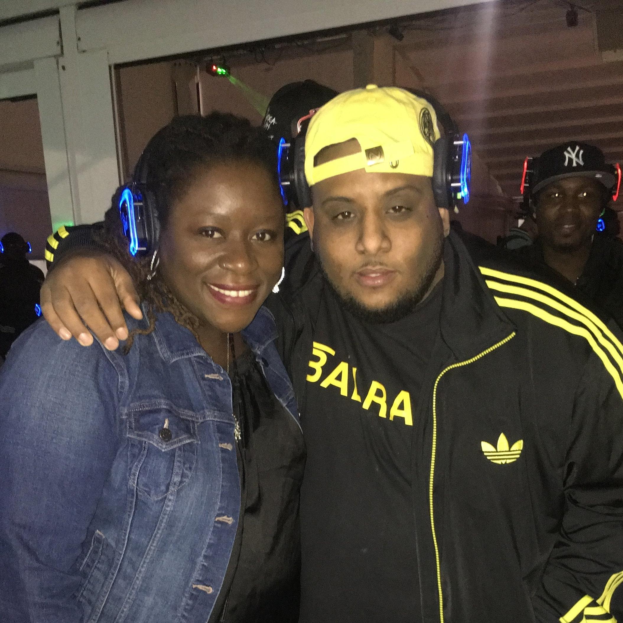 Copy of w/ Trinidadian radio host Trevlyn the Voice (Brooklyn 2017)