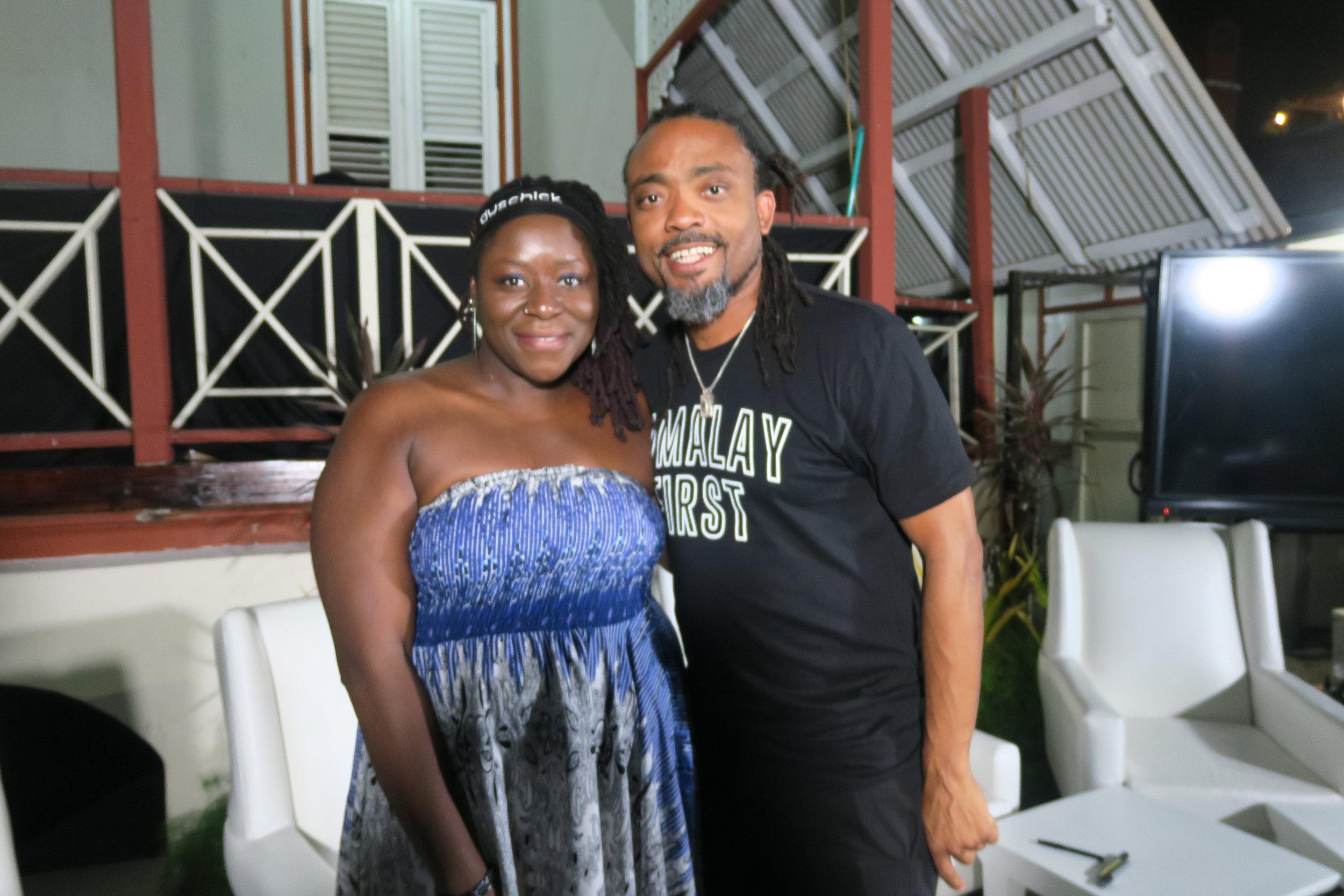 w/ Machel Montano at Famalay Meet-and-Greet