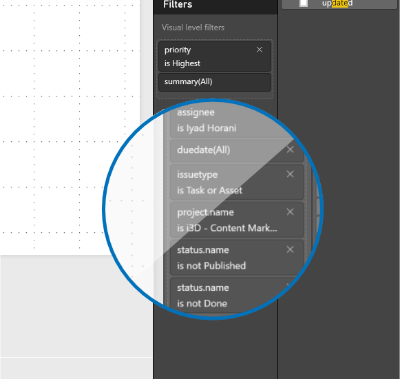 Add the remaining page filters