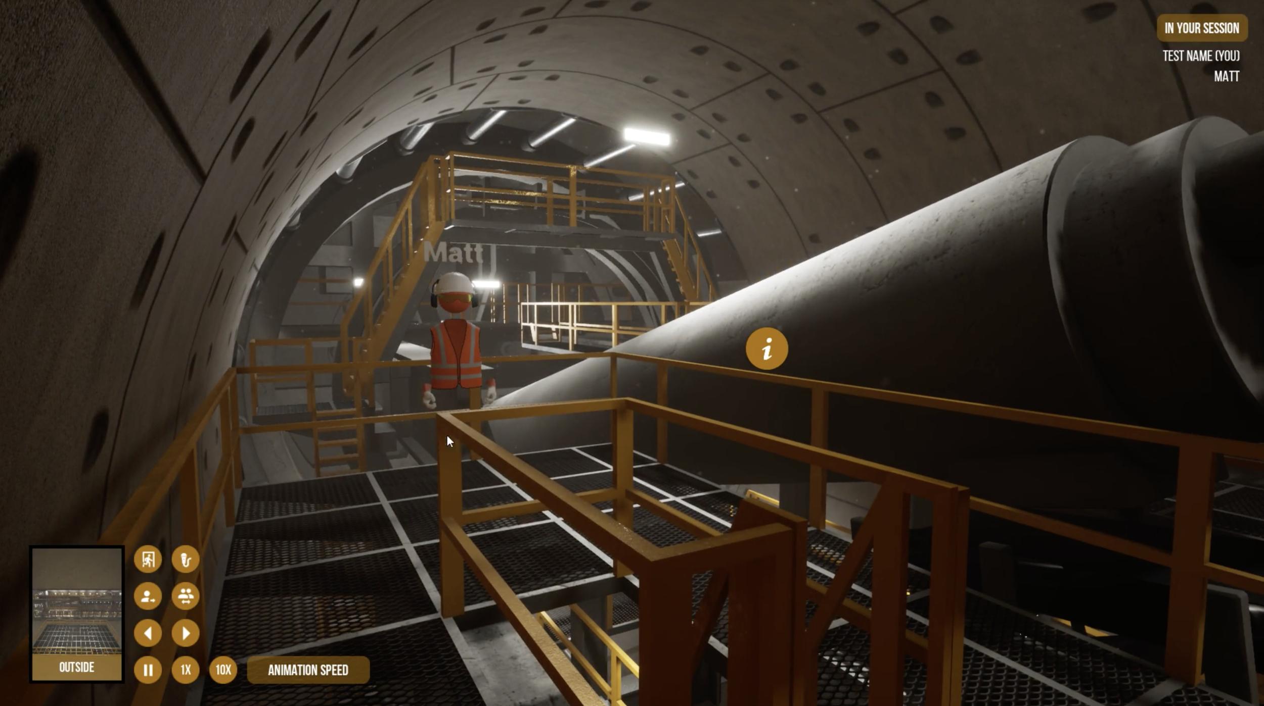 UNSW Teaching Aid Tunnel Boring Machine - Virtual Environment