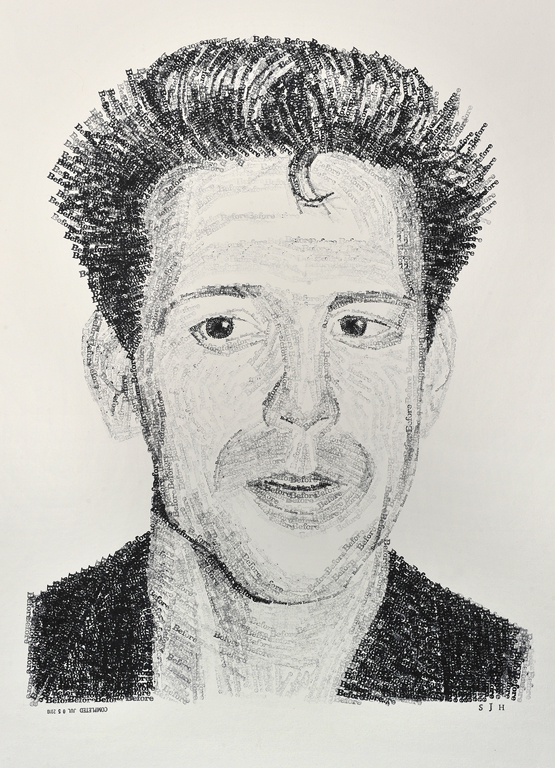 """Mickey Rourke Before //// 20"""" x 30""""  //// ink on illustration board"""