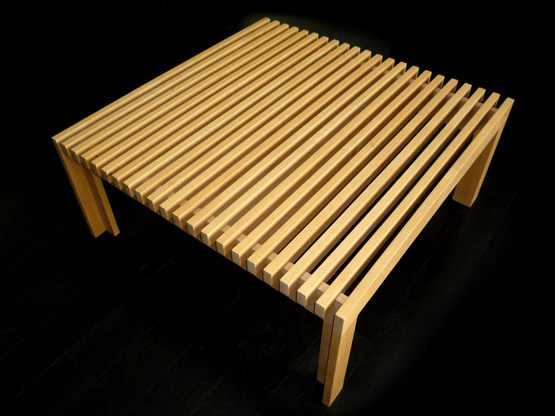 The Poorboy (1993) //// Alder wood and glue //// Coffee table, designed and built at a time when I had very little money to spend on furniture.