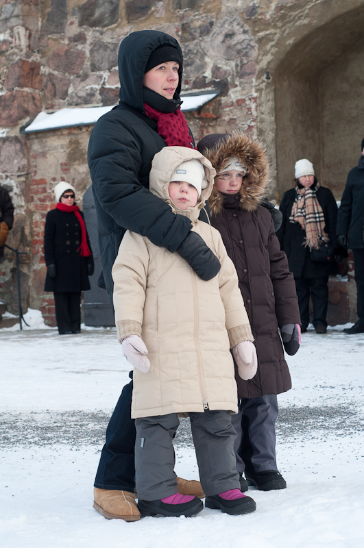 My family on the cathedral square during the traditional Christmas prace announcement in  2010 .