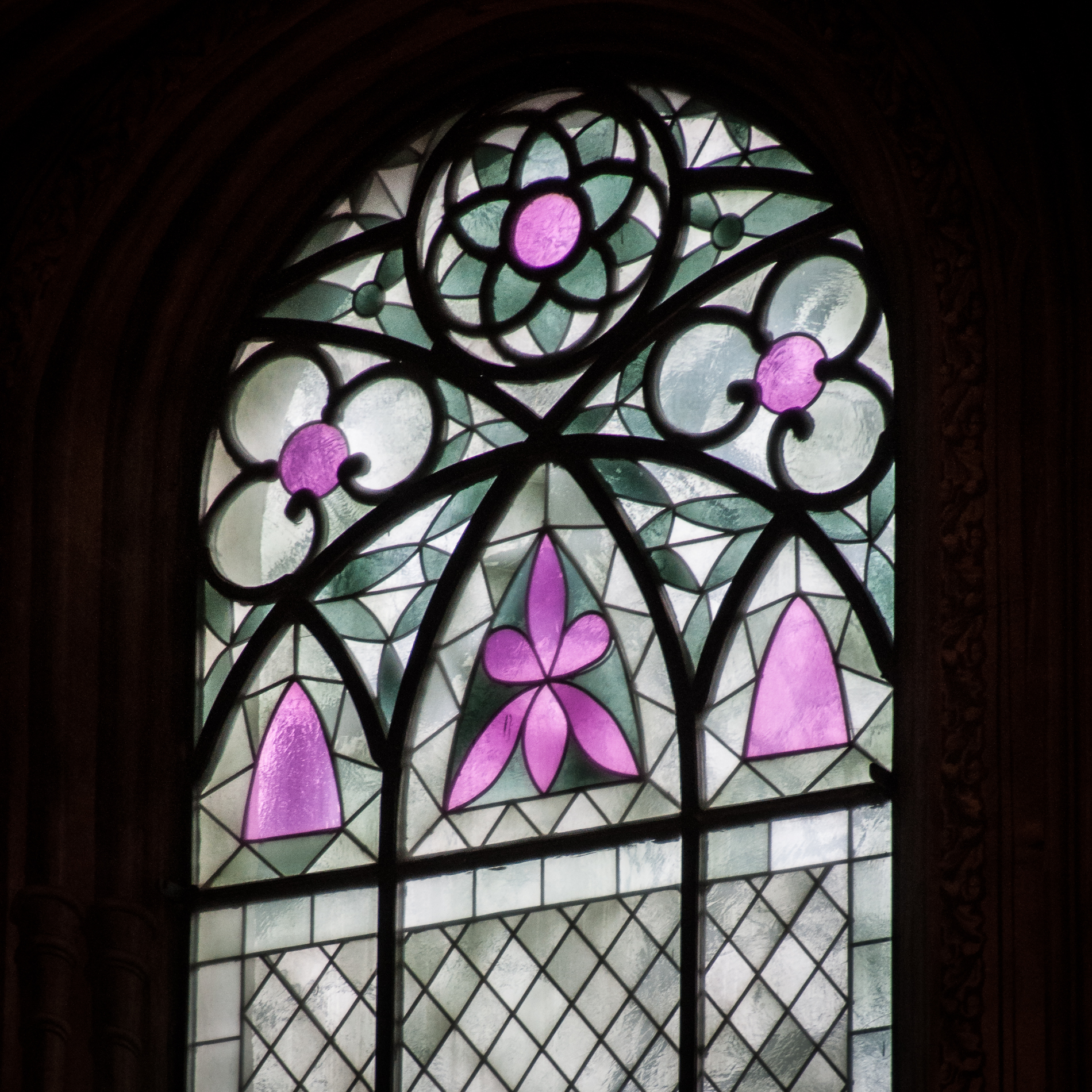 Stained glass window in the Main Choir - 2011