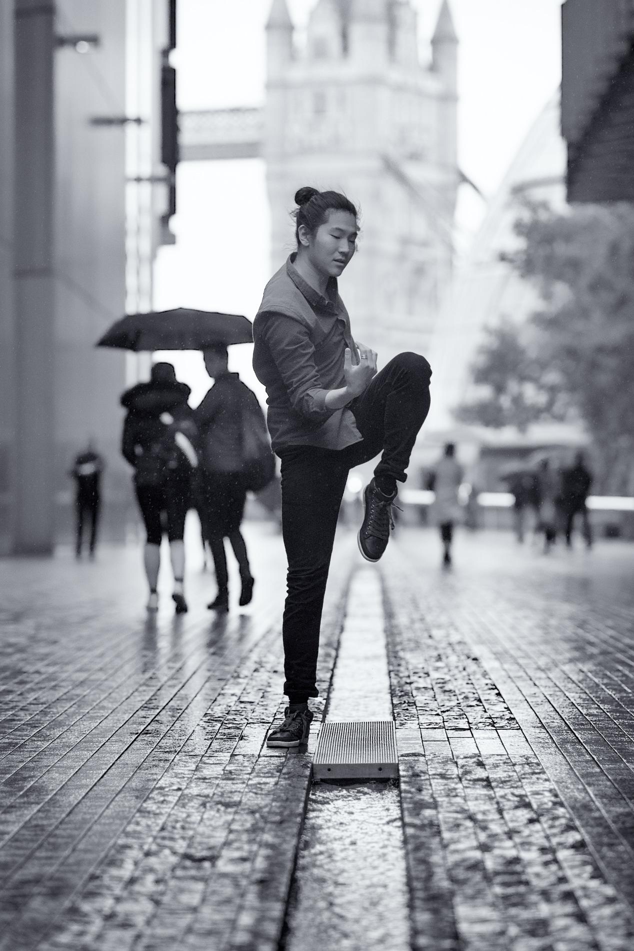 RAIN DANCE   series  ⫩ Southwark, More London Riverside, London dancer:   Daniel Persson
