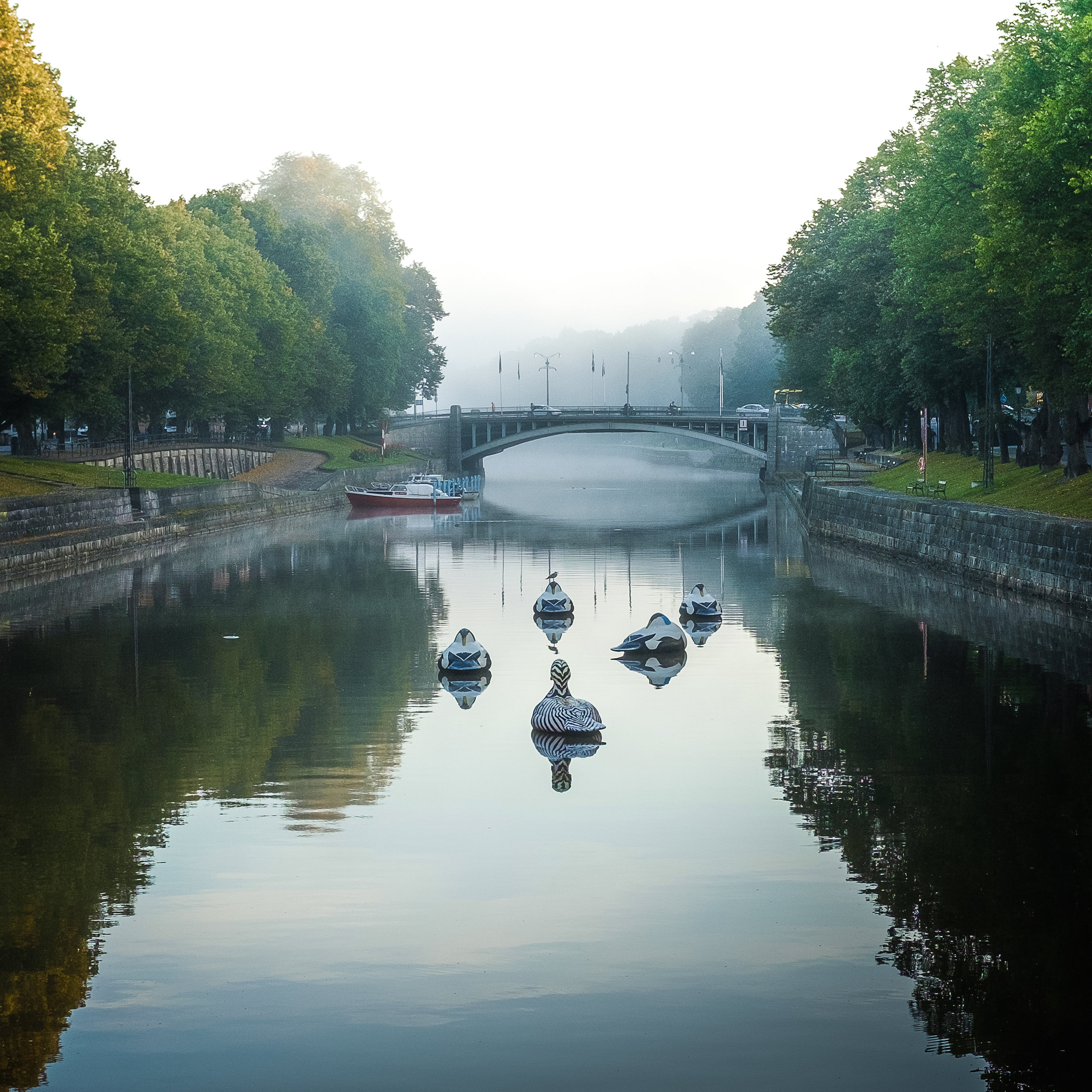 September morning  | Turku, Finland | View towards the  Kirkkosilta  (Church Bridge)