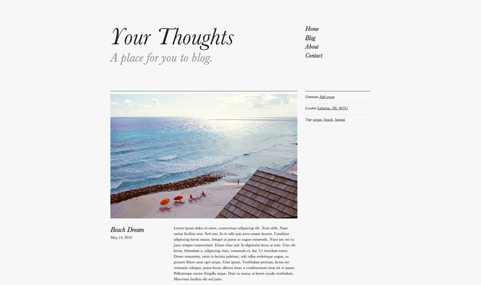 Your thoughts blog