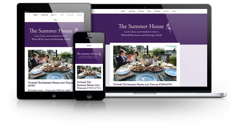 The Summer House responsive website display