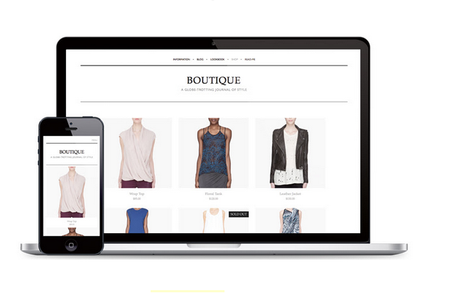 Island Clothing and accessory boutiques mobile responsive website