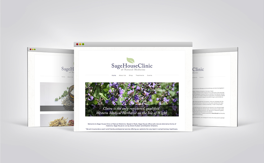 Sage House Clinic mobile responsive website