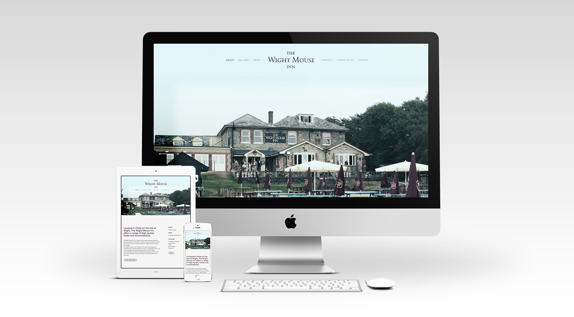 The Wight Mouse Inn Mobile responsive website
