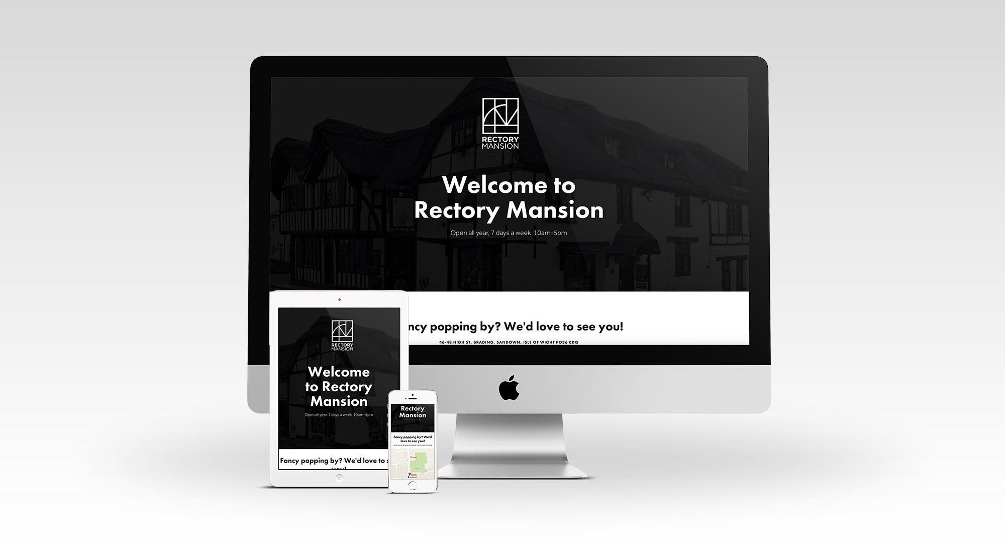 Rectory Mansion responsive website