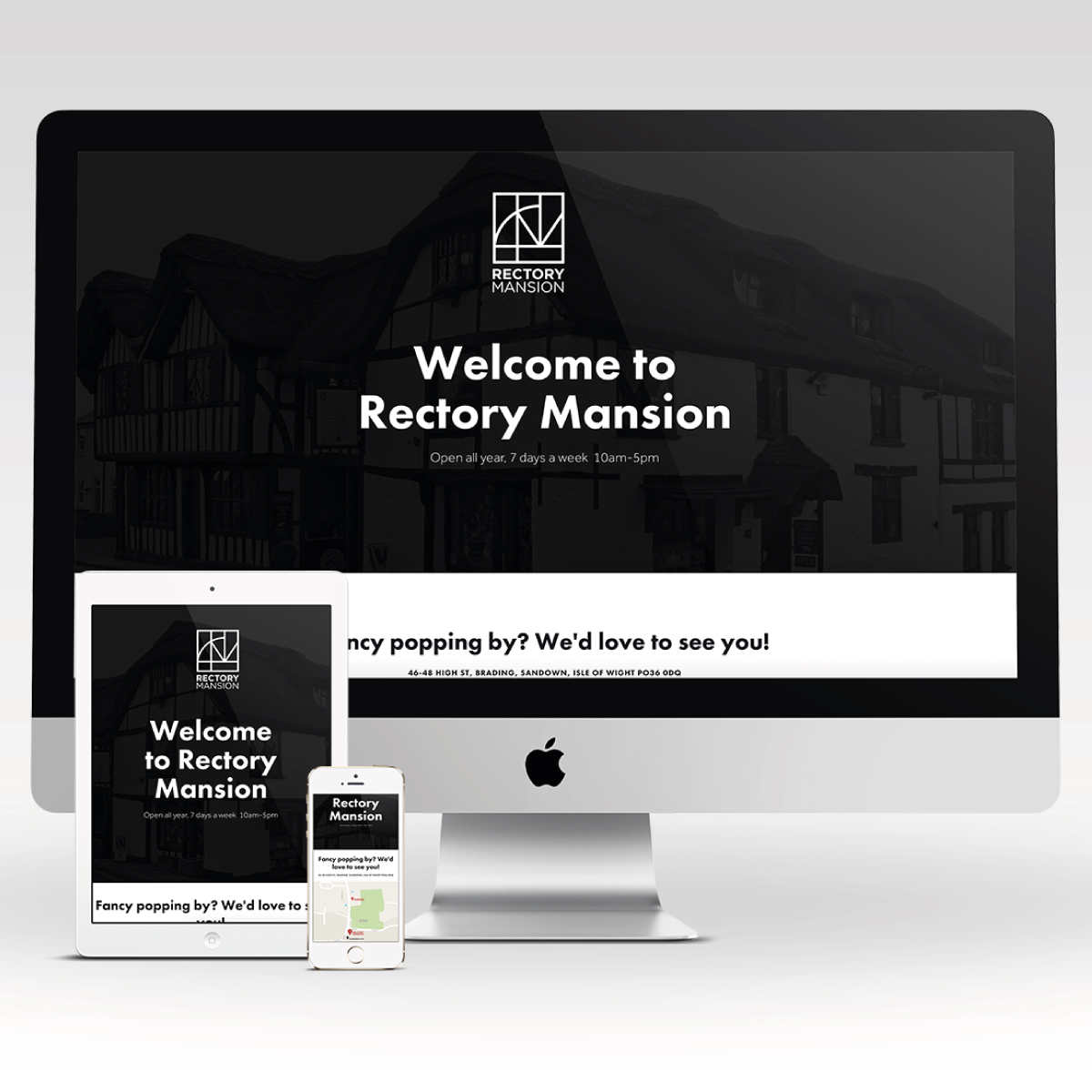 Rectory Mansion Mobile responsive website