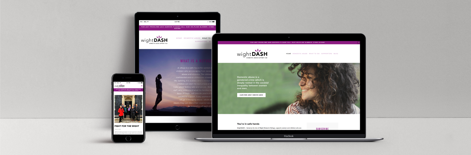 Wight Dash mobile responsive website