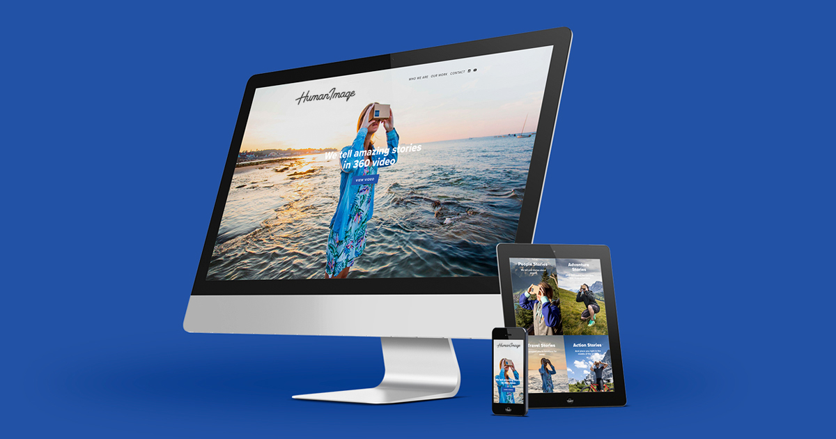 The HumanImage website, built in Squarespace, is suitable for all screen sizes.