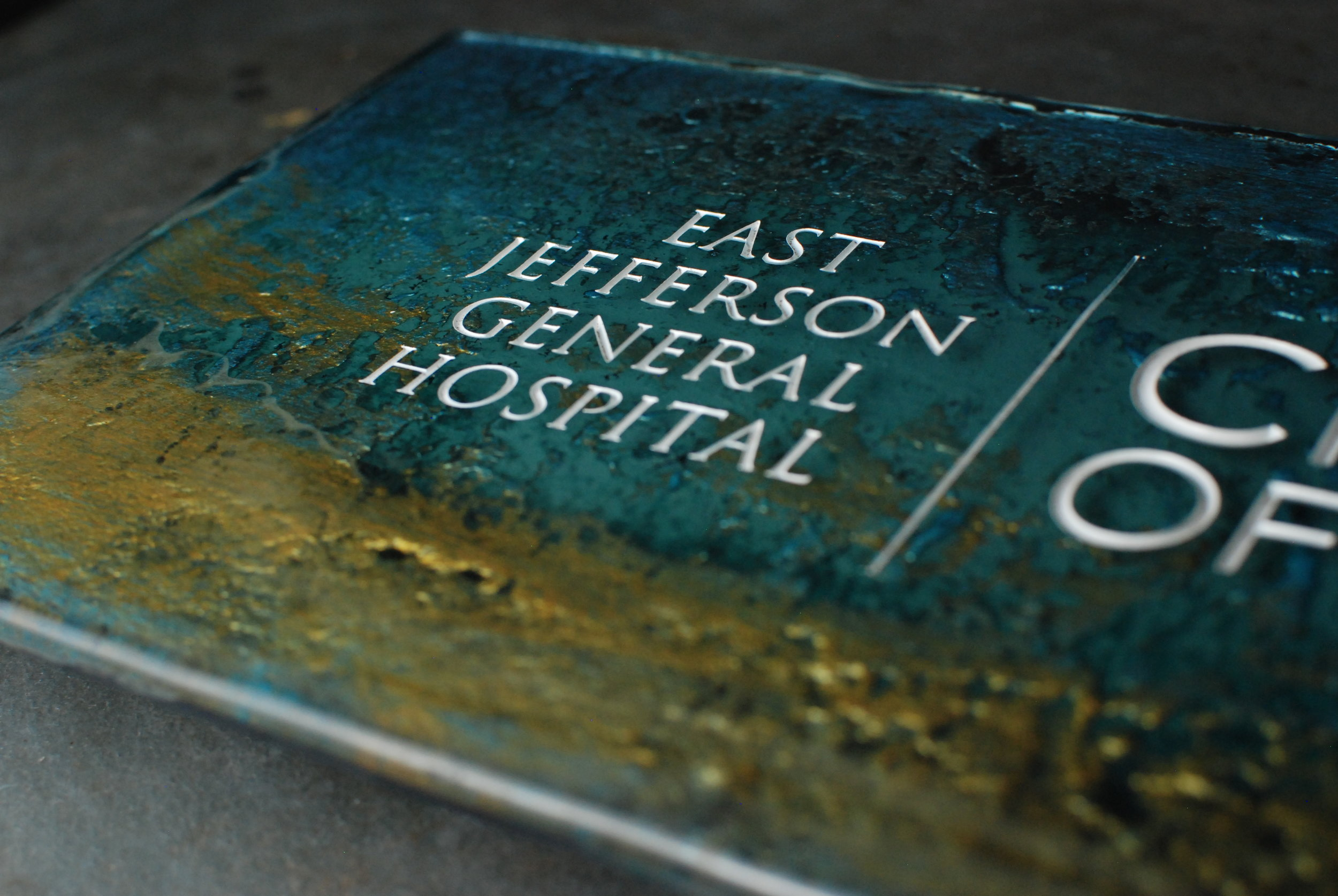 East Jefferson General Hospital Donor Recognition Plaque