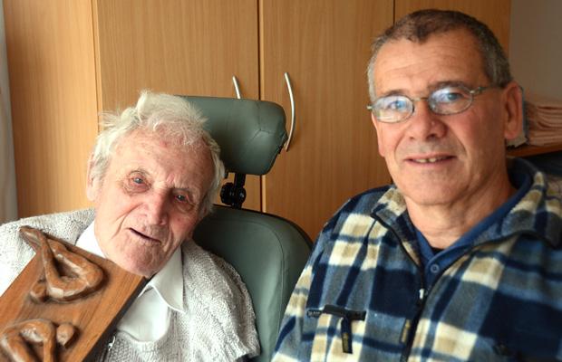Ernst Strupler mit seinem Sohn Ueli.