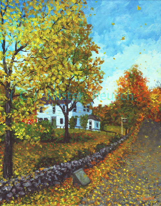 """Whittier Birthplace in Autumn"""