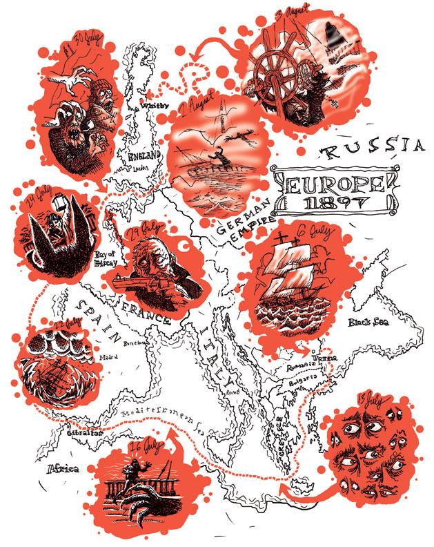 """""""Dracula's Voyage"""" diagram"""