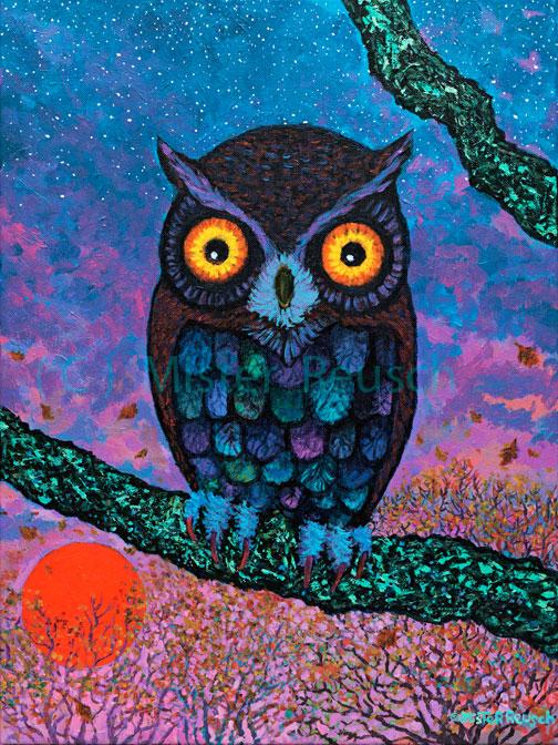 """""""Harvest Moon Owl"""""""