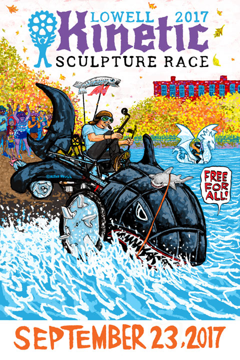 Lowell Kinetic Sculpture Race 2017 poster