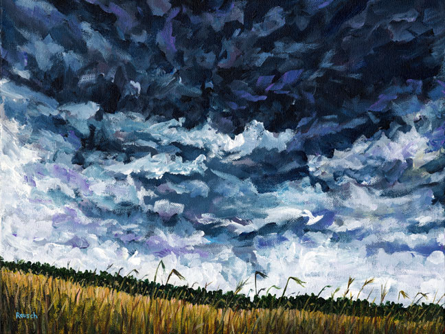 """Stormy Sky Over Summer Pasture"""