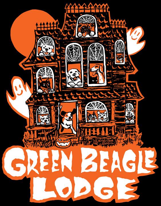 Green Beagle Lodge Halloween t-shirt design