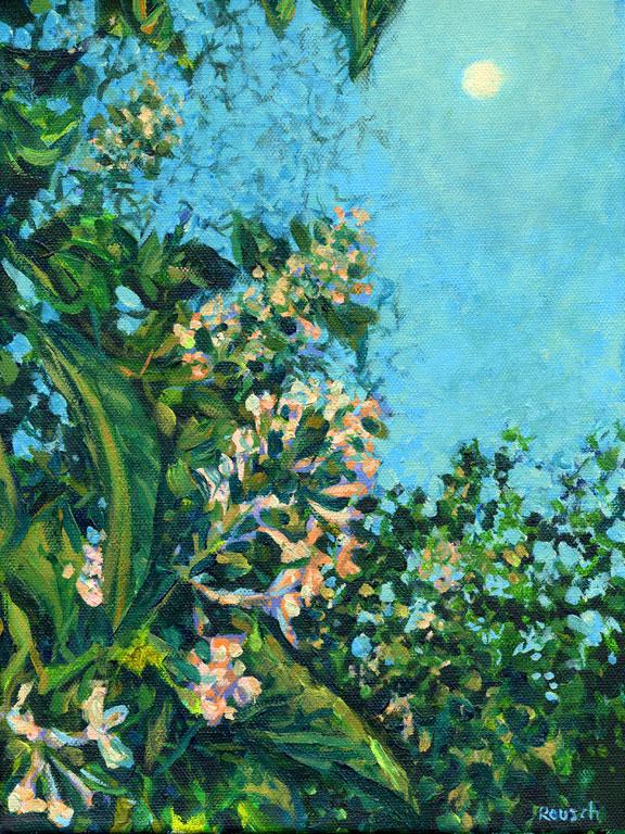 Lilacs at Moonrise