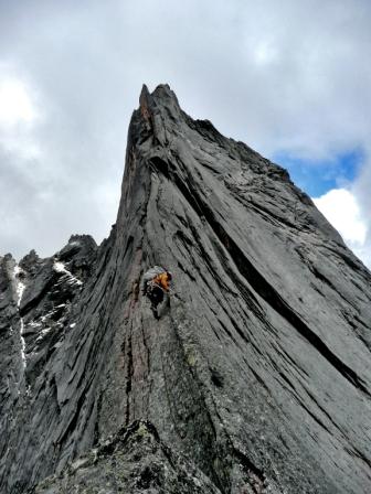 Chad leading some fun granite ridge on Peak 5086.