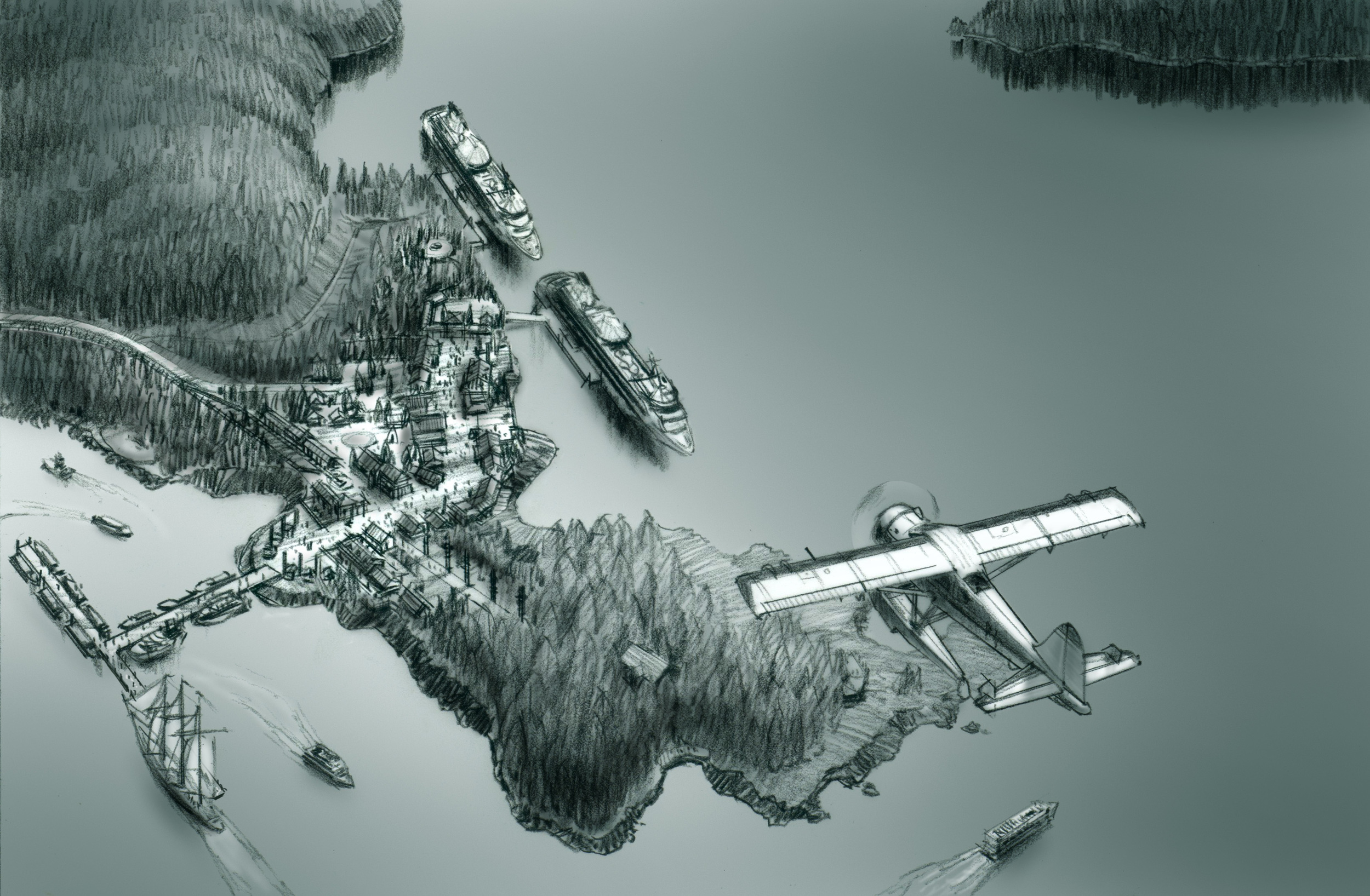 Wilderness Landing Aerial Rendering
