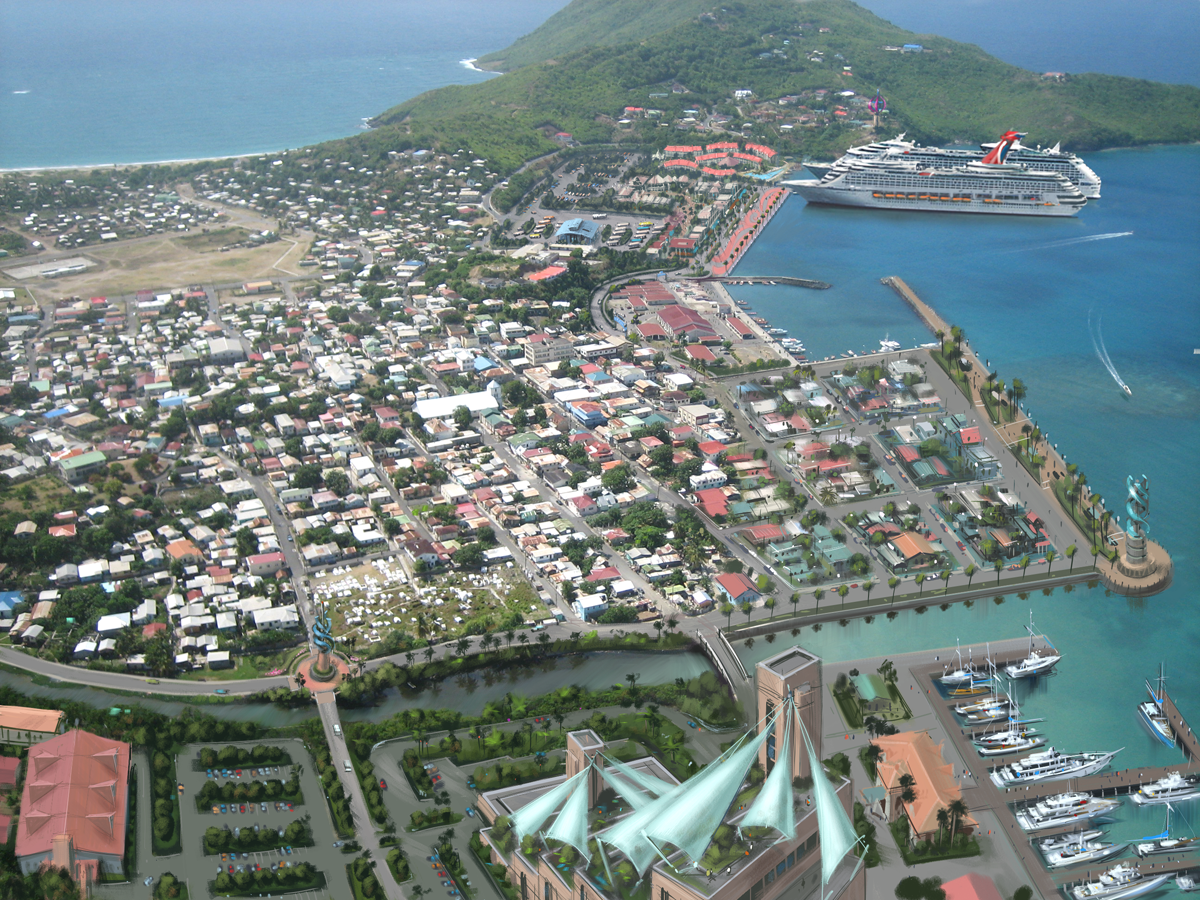Vieux Fort Cruise Port Rendering