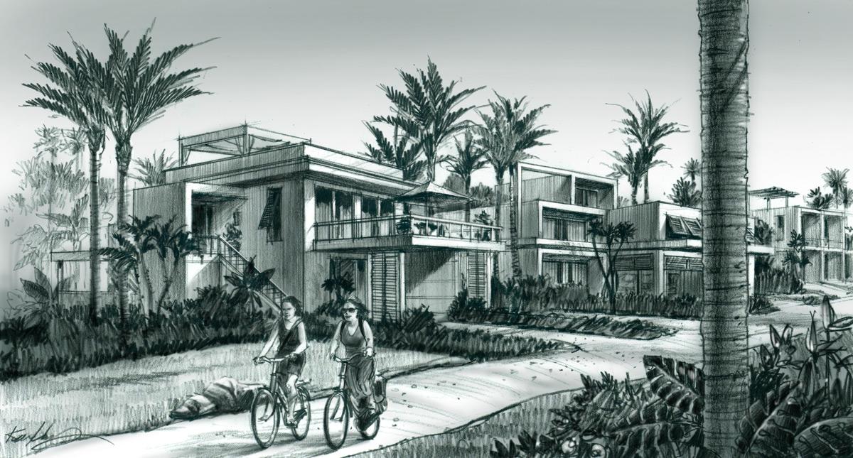 Beach Villas Rendering