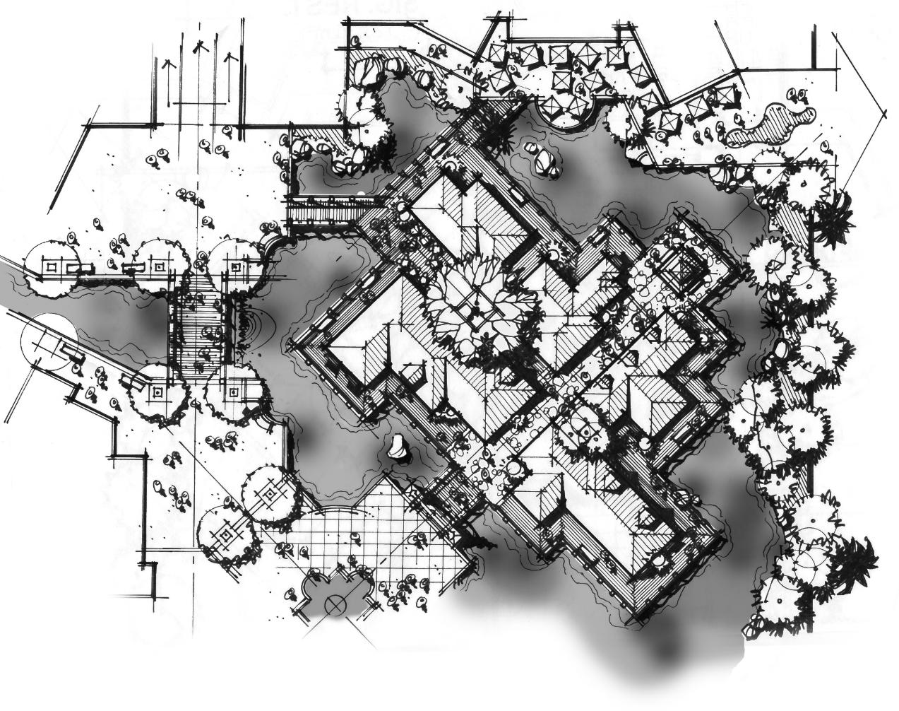 Village Enlargement Sketch