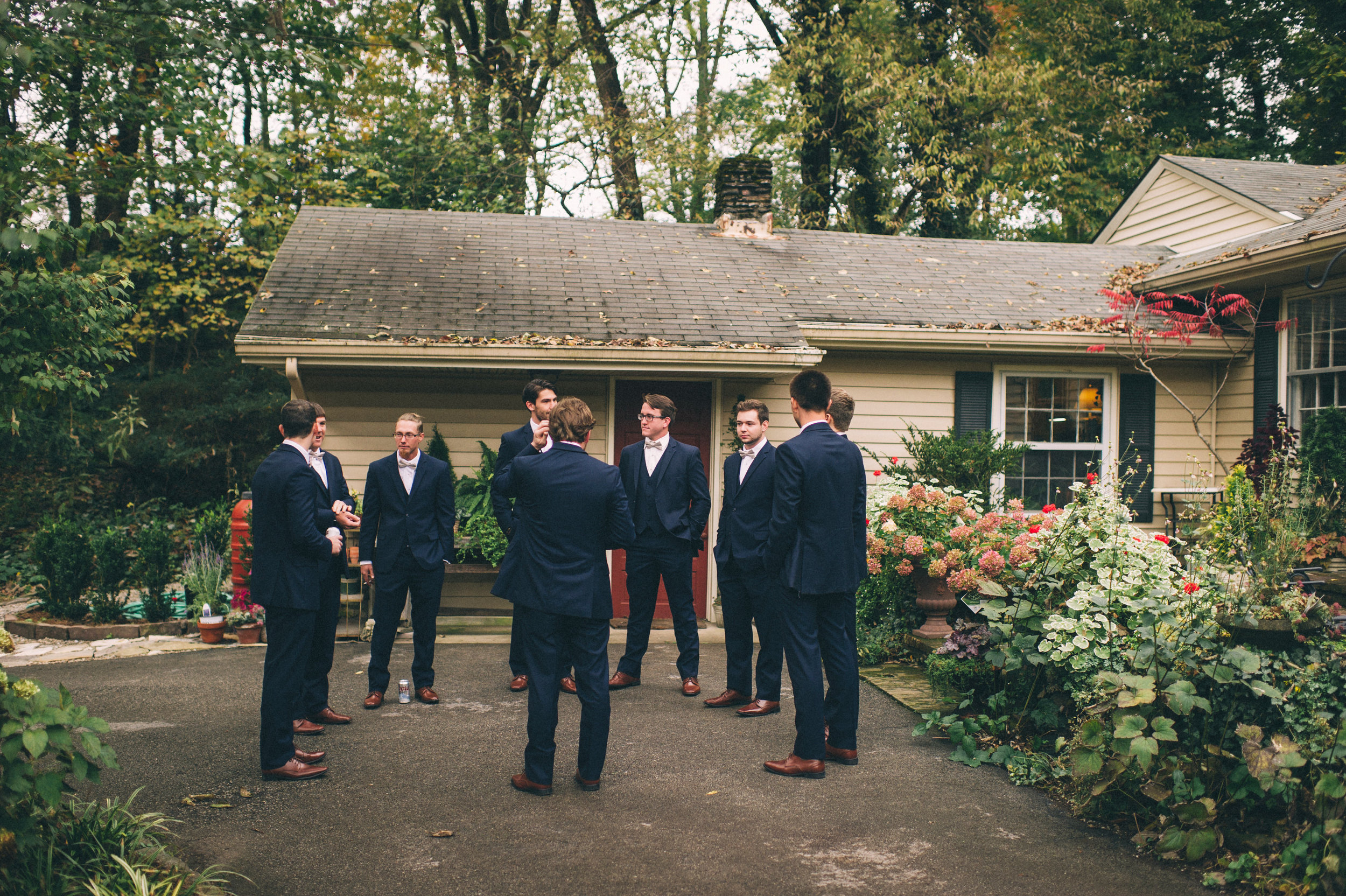 Micaha & Austin // Cozy Autumn Wedding at Springhouse Gardens // Lexington, Kentucky // Wedding Photography // Groomsmen