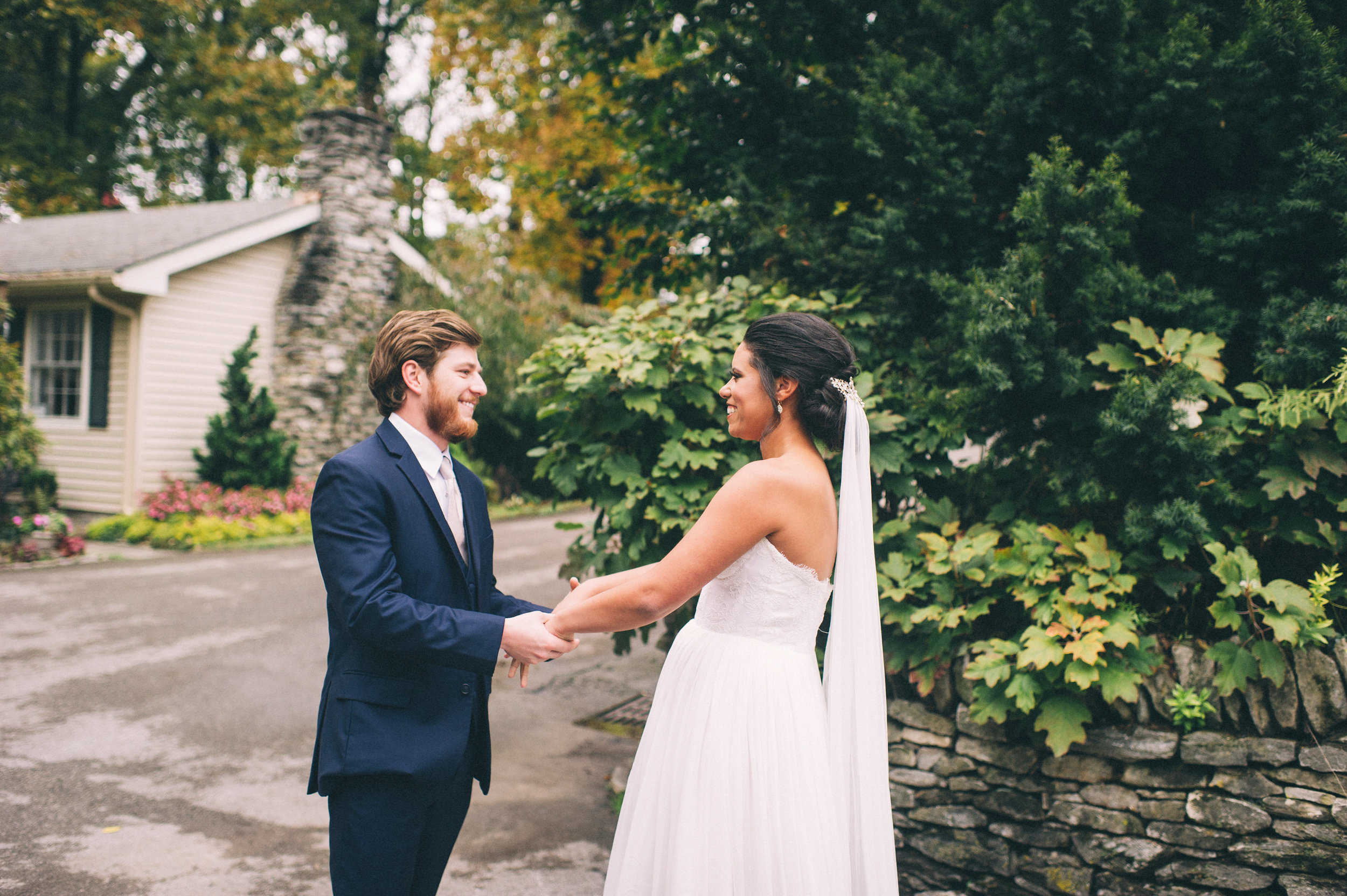 Micaha & Austin // Cozy Autumn Wedding at Springhouse Gardens // Lexington, Kentucky // Wedding Photography // First Look