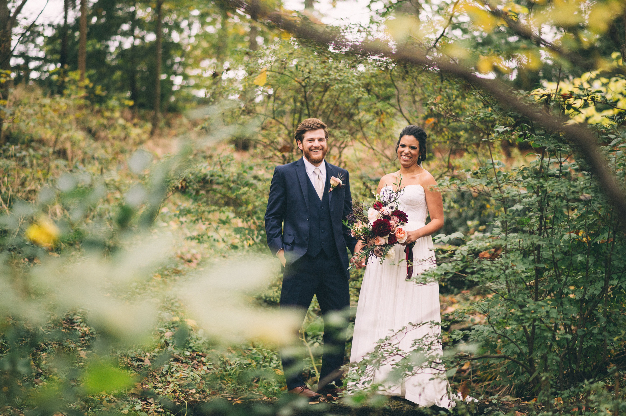 Micaha & Austin // Cozy Autumn Wedding at Springhouse Gardens // Lexington, Kentucky // Wedding Photography // Couple's Portraits