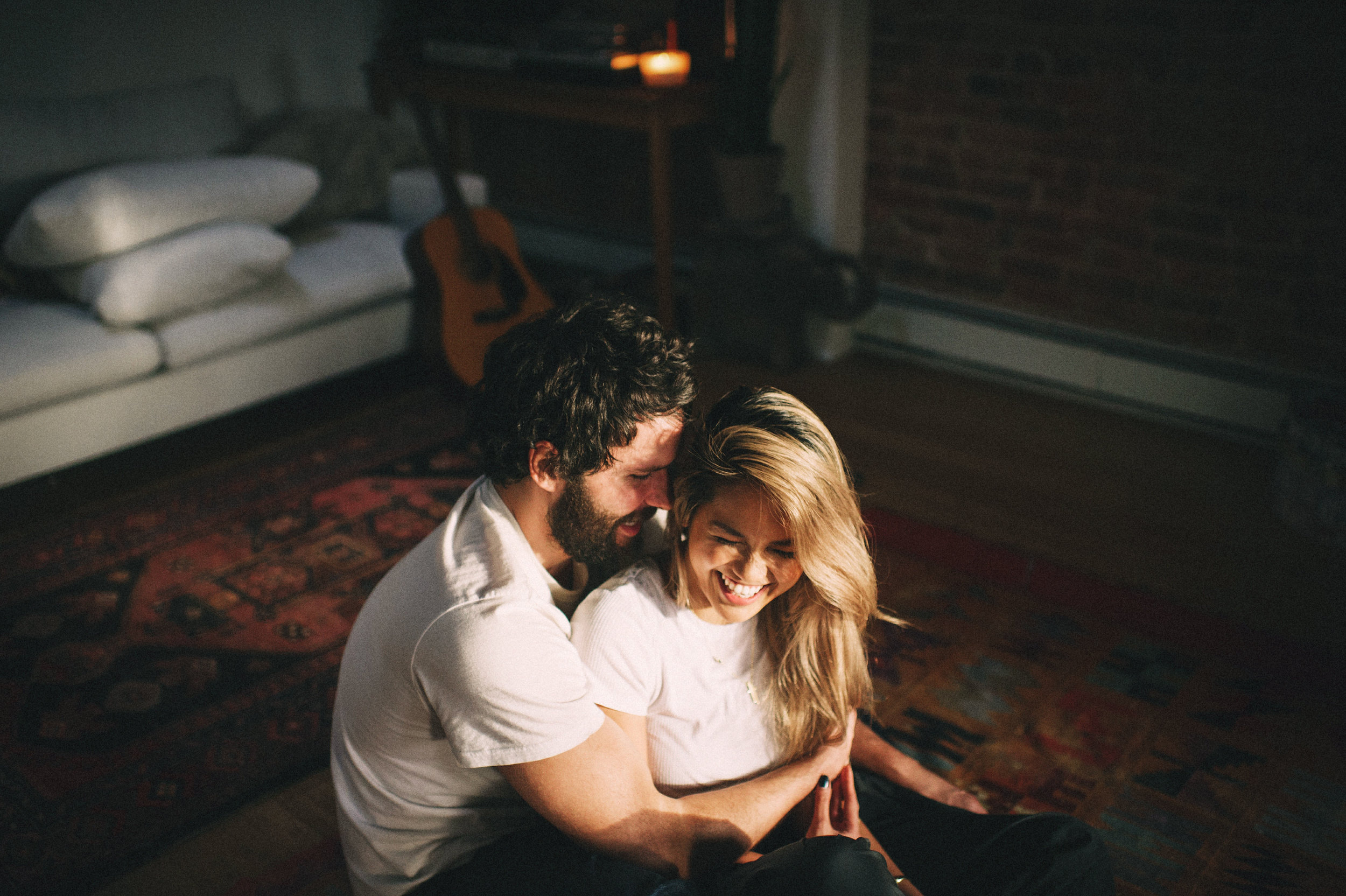 Aica & Marcos // Brooklyn In-Home Session  // New York Couples Photographer