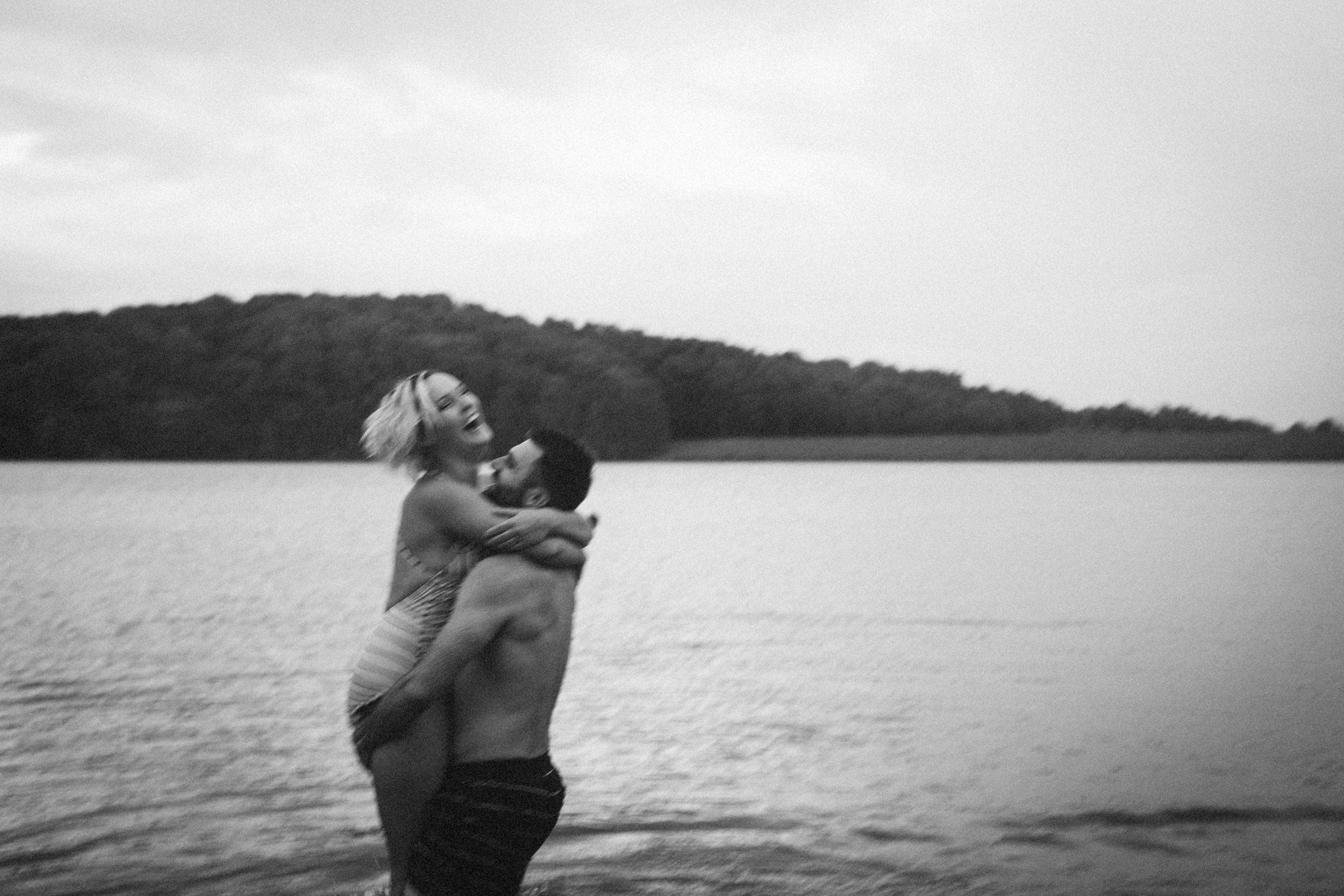 Sarah-Katherine-Davis-Photography-Louisville-Kentucky-Wedding-Elopement-Photographer-Just-Because-Session-Stormy-Blue-Hour-Swimming-In-Lake-Couple-Session-Abby-Schyler-118bw.jpg