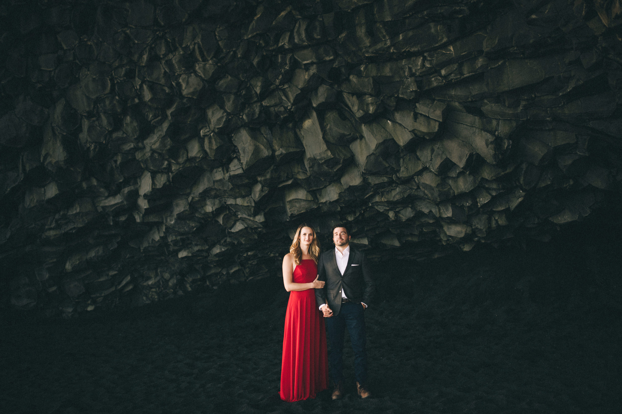 Sarah-Katherine-Davis-Photography-Iceland-Adventure-Elopement-Photographer-Louisville-Kentucky-Wedding-Photographer-Travel-Vik-Beach-Engagement-Session-Red-Dress-Reynisfjara-10edit.jpg