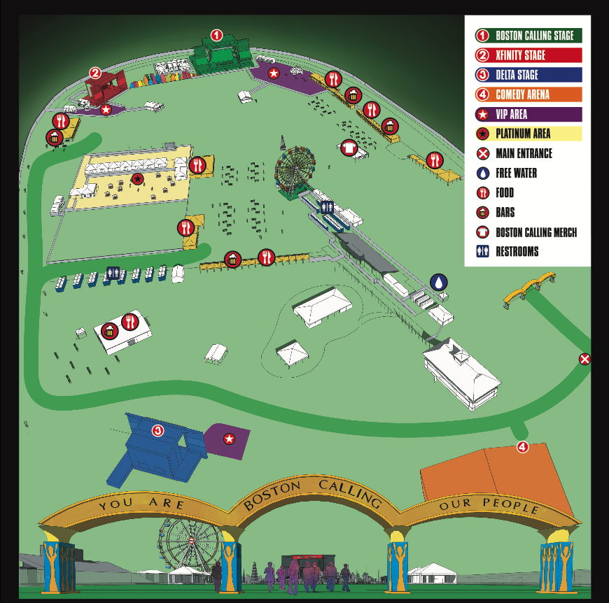 Layout of the new festival grounds at the Harvard Athletic Complex
