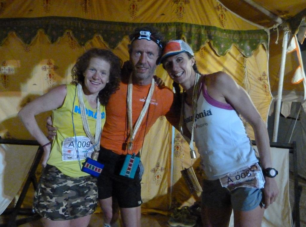 In front of our tent with the German - Rafael.
