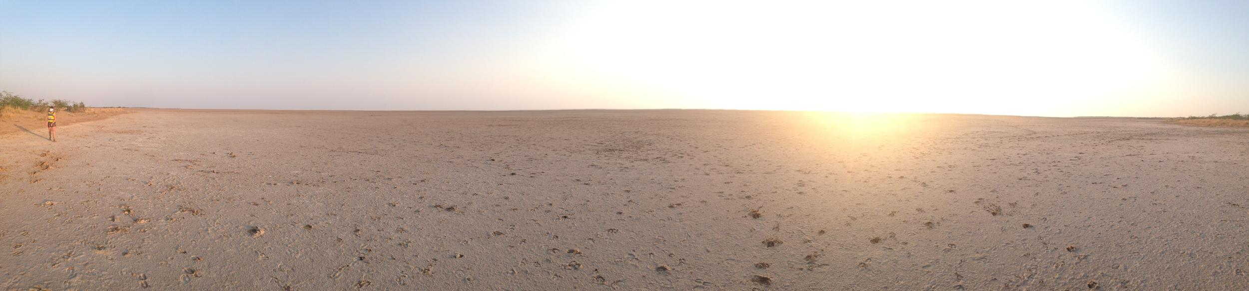 Sunset on the never ending horizon