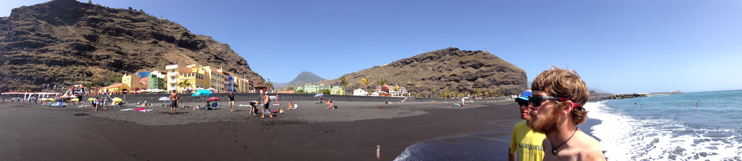 Tezacorte - lowest point on the course (after the start)… Some beach time with Patagonia teammates before race day.