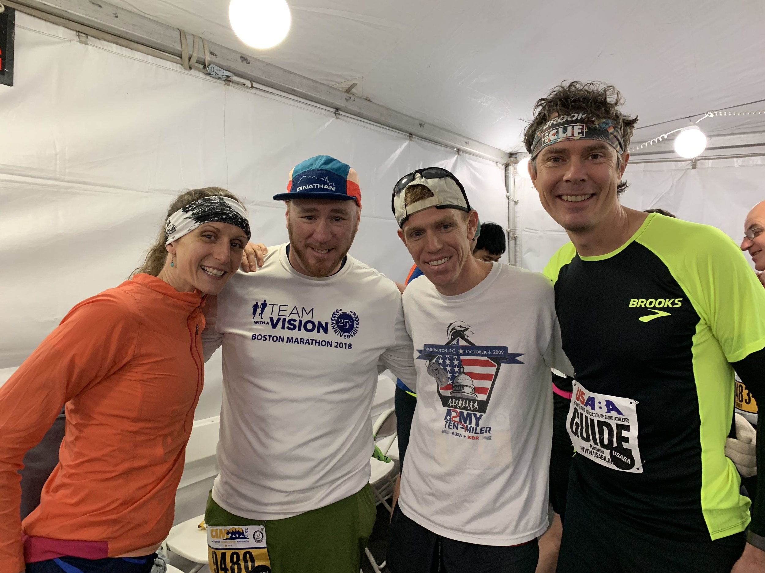 Scott Jurek and I with our runners. Scott helped get me into ultrarunning. We stood on the Hardrock together in 2007. He and his wife Jenny, one of my bestests, easily talked me in to guiding.