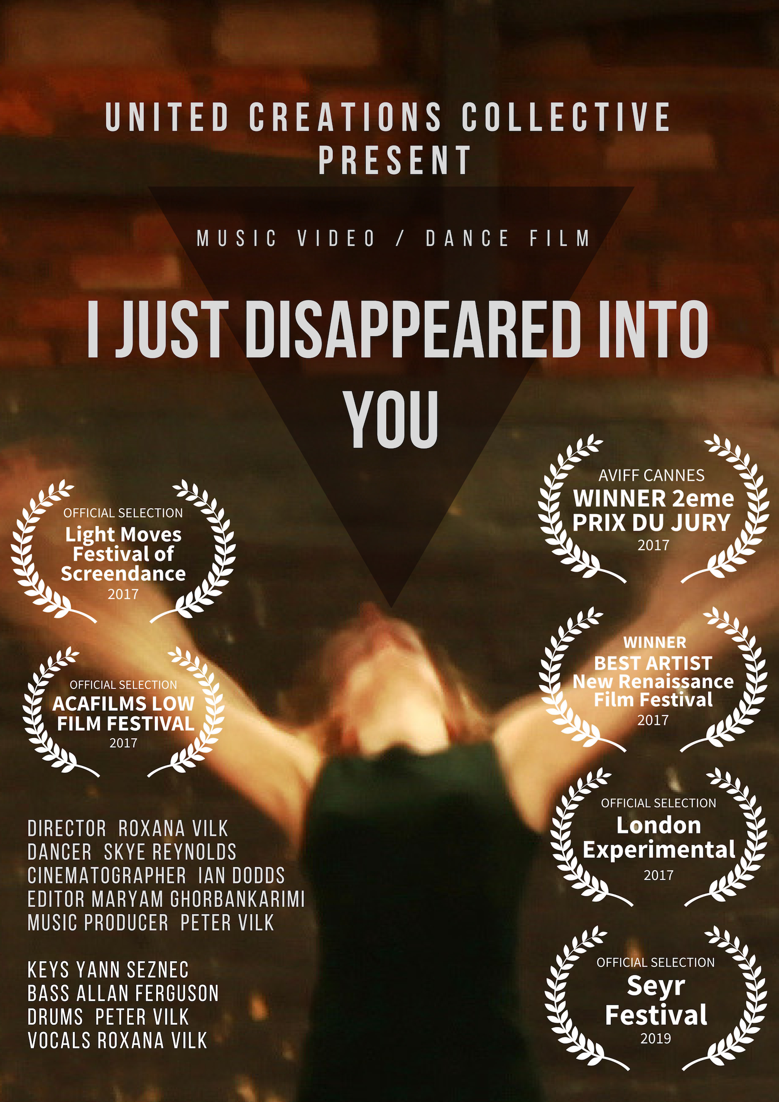 Roxana Vilk wins best Artist Award at London Renaissance Film Festival 2017 with I just disappeared Art/Film -